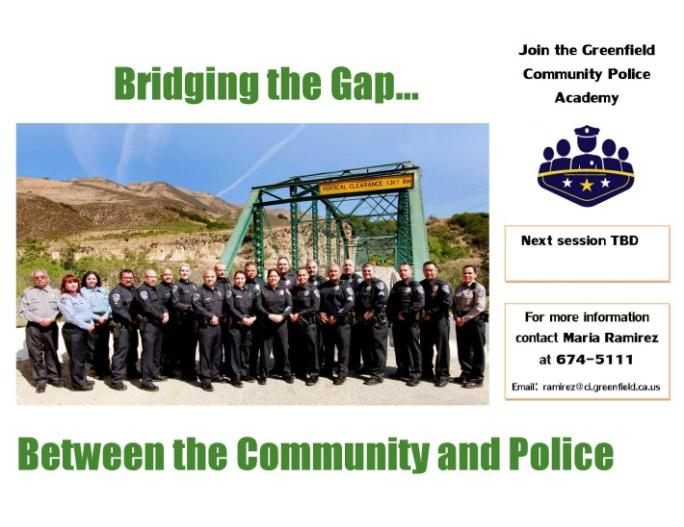 The flyer for the Community Police Academy.