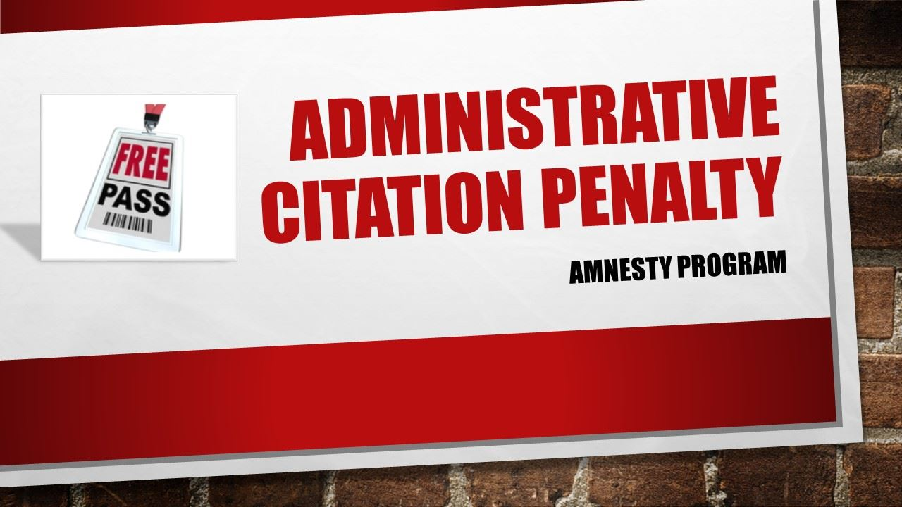 Administrative citation penalty